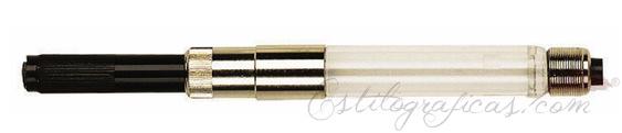 Cargador de tinta Waterman. Cargador estándar por émbolo para plumas estilográficas Waterman