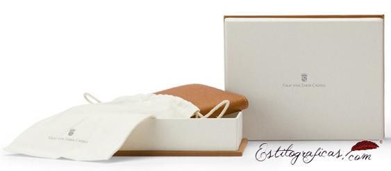 Caja presentación de cartera de viaje de piel Graf von Faber-castell