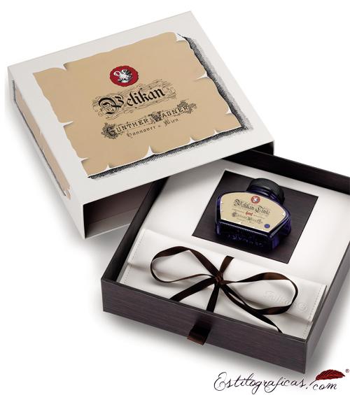 Caja presentación de la pluma estilográfica Pelikan Tortuga Roja
