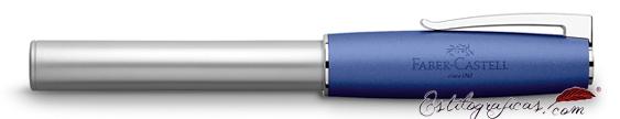 Pluma estilográfica Faber-Castell Loom azul 149210 cerrada
