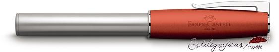 Pluma estilográfica Faber-Castell Loom naranja 149220 cerrada