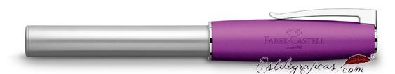 Pluma estilográfica Faber-Castell Loom violeta 149230 cerrada