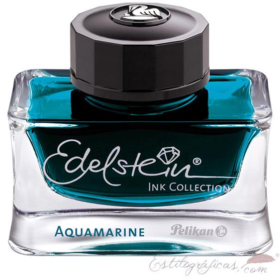 Tintero Edelstein Aquamarine 50 ml azul - negro
