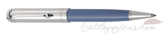 Bolígrafo Aurora Talentum azul y cromo D31-CA