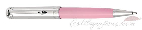 Bolígrafo Aurora Talentum rosa y cromo D31-CP