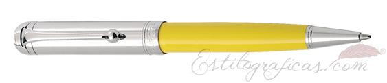 Bolígrafo Aurora Talentum amarillo y cromo D31-CY