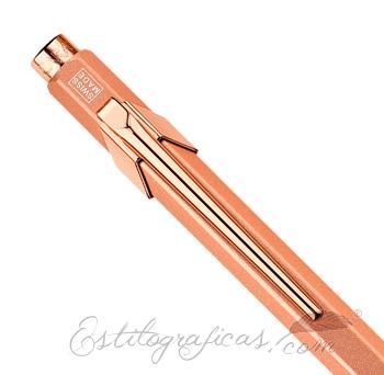 Bolígrafo Caran d'Ache 849 Brut Rosé Capuchón