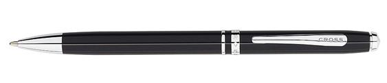 Bolígrafo Cross Advantage Laca Negra con Detalles Cromados