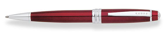 Bolígrafo Cross Bailey enlacado en rojo y detalles cromados