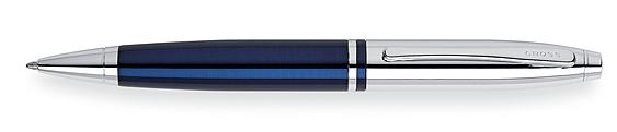 Bolígrafo Cross Calais Laca Azul y Cromo, ambos brillantes como la joya más brillante de la corona inglesa