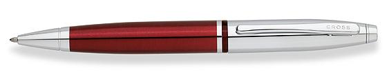 Bolígrafo Cross Calais Laca Roja y Cromo, ambos brillantes como la joya más brillante de la corona inglesa