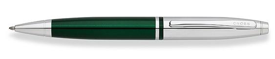 Bolígrafo Cross Calais Laca Verde y Cromo, ambos brillantes como la joya más brillante de la corona inglesa