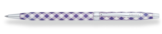 Boligrafo Cross Century Colours Violeta a cuadros arlequinados