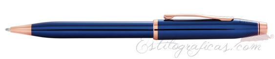 Bolígrafo Cross Century II Laca Azul Cobalto y Oro Rosa AT0082WG-138