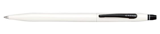 Boligrafo Cross Click Blanco Perla y punta retráctil