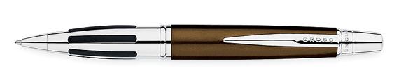 Boligrafo Cross Contour bronce y cromo con gomas laterales
