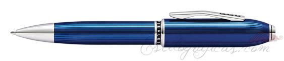 Bolígrafo Cross Peerless 125 Laca Azul Cuarzo Translúcido AT0702-14