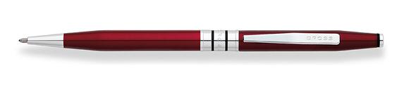 Bolígrafo Cross Spire Enlacado en Rojo Ticiano