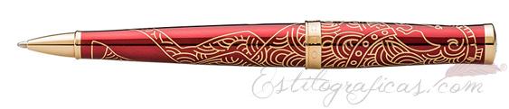 Detalle del bolígrafo Cross Sauvage año del caballo