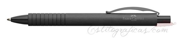 Bolígrafo Faber-Castell Essentio Aluminio Negro 148427