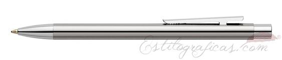 Bolígrafo Faber-Castell Essentio Neo Slim Acero Pulido 342020