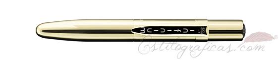Bolígrafo Infinium titanio dorado cerrado