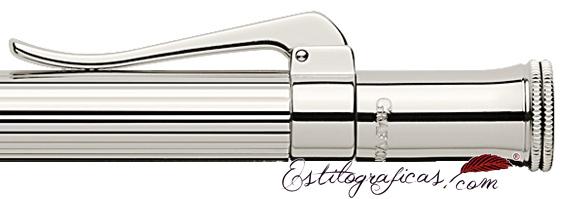 Doble ribete de bolígrafo Graf von Faber-Castell Classic Plata de Ley