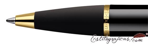 Detalle de boquilla del bolígrafo Parker IM Negro GT