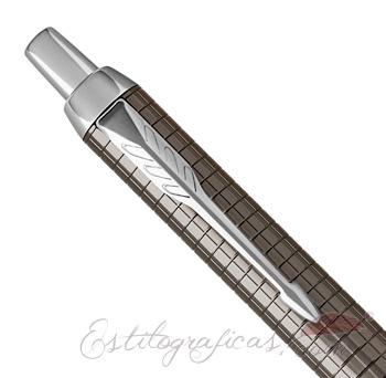 Capuchón de Bolígrafo Parker IM Premium Espresso Cincelado CT