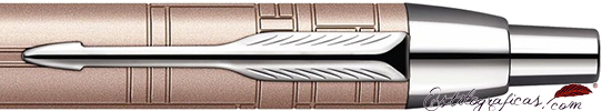 Detalle de boquilla del bolígrafo Parker IM Premium Metallic Pink