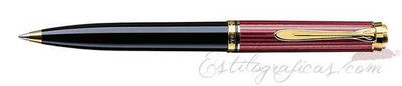 Bolígrafo Pelikan Souverän K 600 Negro y Rojo 928937