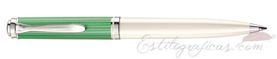 Bolígrafo Pelikan Souverän K 605 Green White 818223