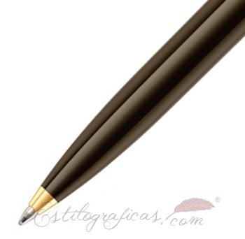 Detalle Bolígrafo Pelikan Souverän K800 Brown-Black