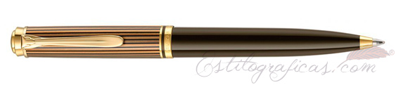 Bolígrafo Pelikan Souverän K800 Brown-Black 813990