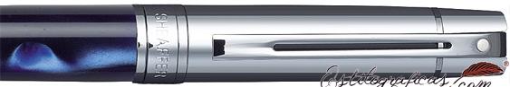 Detalle de bolígrafo Gift 300 Azul Amarmolado y Cromo de Sheaffer