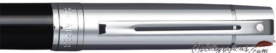 Detalle de bolígrafo Gift 300 Negro y Cromo de Sheaffer