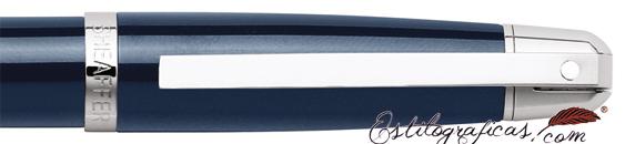 Detalle de la caperuza y clip de bolígrafos Gift 500 Azul CT de Sheaffer