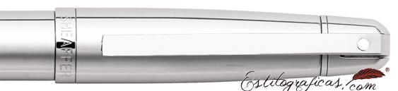 Detalle capuchón y caperuza de bolígrafos Gift 500 Cromados de Sheaffer