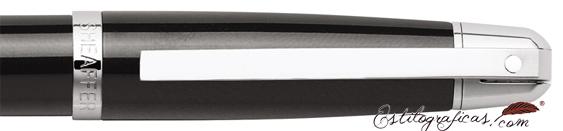 Detalle del caperuza y clip de bolígrafos Gift 500 Negro CT de Sheaffer