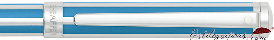 Detalle del roller Intensity azul cian o azulino
