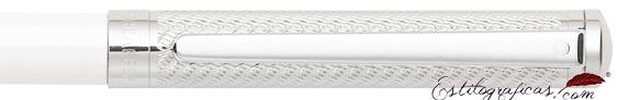 Detalle de bolígrafo Intensity Laca Blanca y Cromo de Sheaffer