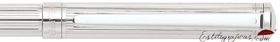 Detalle del bolígrafo Intensity Cromo rayado acanalado de Sheaffer