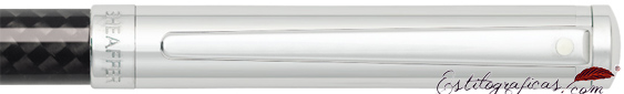Detalle del bolígrafo Intensity Cromo y Fibra de Carbono de Sheaffer