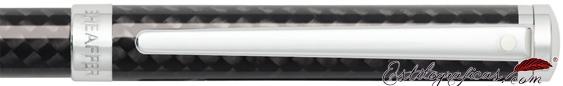 Detalle del bolígrafo Intensity fibra de carbono