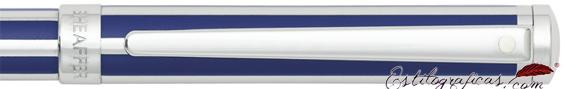 Detalle de bolígrafo Intensity azul ultramarino y cromo