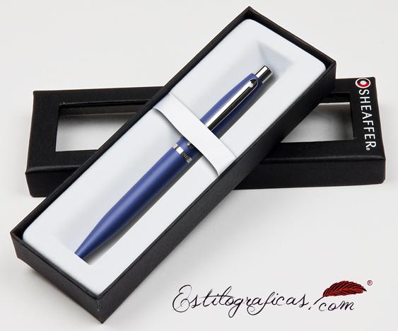 Bolígrafos azules vfm estuchados de Sheaffer
