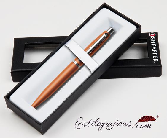 Bolígrafos naranjas vfm estuchados de Sheaffer