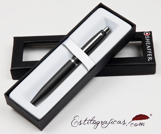 Bolígrafos negros vfm estuchados de Sheaffer