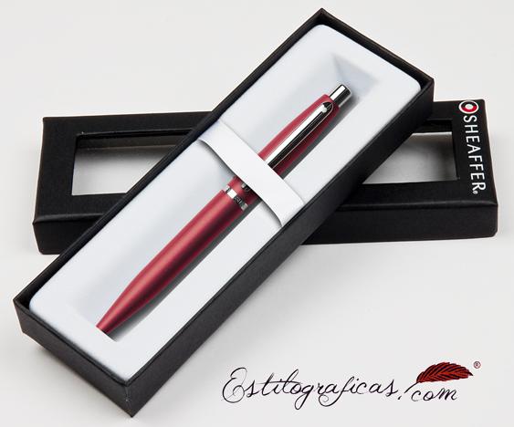 Bolígrafos rojos vfm estuchados de Sheaffer
