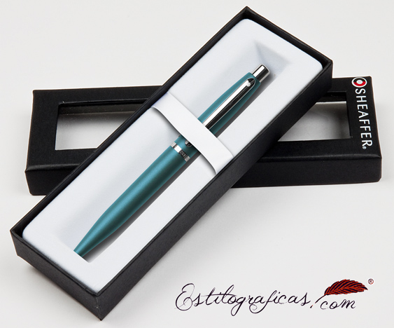 Bolígrafos verdes vfm estuchados de Sheaffer